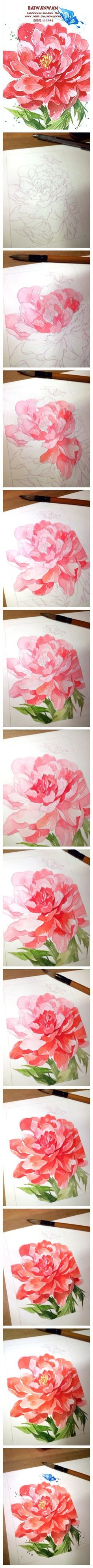 how to draw a beautiful flower