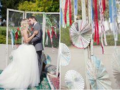 mappie pinwheels    A Handmade Vintage Circus Wedding: Ashley + Ricky – Part 1