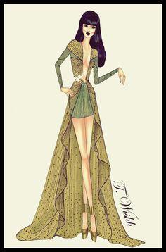 Fashion Design Dress 4. by TwISHH.deviantart.com on @deviantART