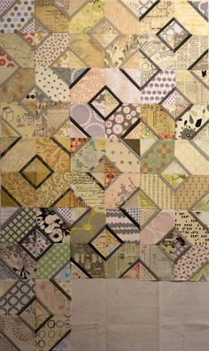 A Quilter's Table: 2013 Finish-A-Long: Q2 Finishes  Interesting idea for shadow play.