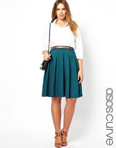 ASOS Midi Skirt with Belt - sizes 14 to 24