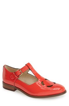 Clarks® x Orla Kiely 'Bobbie' Leather Flat (Women) available at #Nordstrom