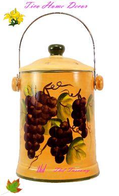 Grape Kitchen Items | Tuscany Grapes Canisters Kitchen Decor Set | Grape  Kitchen Ideas | Pinterest | Tuscany, Kitchens And Wine Themed Kitchen