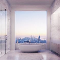 A bathtub with a view 😍