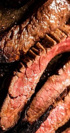 Make an easy seared flank steak recipe using Worcestershire sauce, Dijon mustard, and olive oil. for the marinade. Chowhound's Steak Marinade recipe uses only. Steak Marinade Recipes, Flank Steak Recipes, Grilled Steak Recipes, Grilled Meat, Grilling Recipes, Meat Recipes, Cooking Recipes, Grilling Flank Steak, Steak Marinades