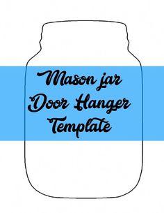 Mason Jar Door Hanger Template