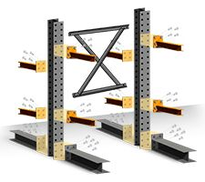 """""""If you're looking for a complete pre-configured structural cantilever racking kit complete with everything (including hardware!) you need to set up your new cantilever system immediately, SJF has you covered.  Now you can create your own unique cantilever and lumber racks specifically designed to fit your storage rack needs. """""""