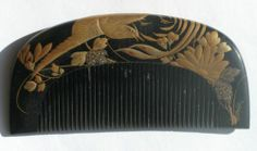 Kanzashi-geisha-old-Japanese-beautiful-antique-lacquer-hair-comb