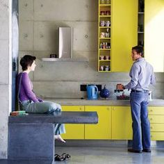 Cantilevered concrete bench...