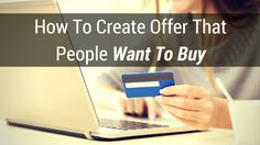 We all know that #offer is very important when it comes to getting results in online business.  It has to be good so if you want to know how to create offer that people want to buy, then watch this video:  http://brandonline.michaelkidzinski.ws/how-to-create-offer-that-people-want-to-buy/