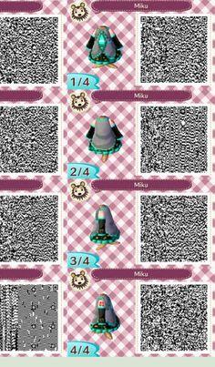 Animal Crossing QR Code - Dress - Miku Hatsune