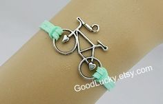 Apple green leather braceletshipsters by goodlucky on Etsy, $0.99