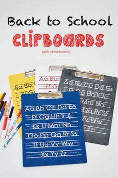 Clipboard Makeover for Back to School Gift on iheartnaptime.com