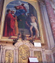 Basilica di Santa Maria Della Salute - Venice, Italy - St. Mark Painting by Titian