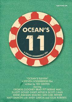 Minimalist Movie Poster: Ocean's 11