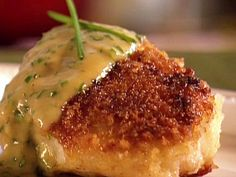 Seared Cod with Chive Butter Sauce from FoodNetwork.com
