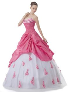 Faironly Sweetheart Pink White Prom Gown Evening Dress Custom Make Size
