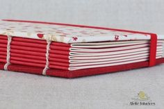 Caderno Flor Coração - Ateliê Fofurices