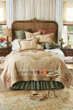 Oh how I love this...I think I could keep my room clean for THIS! Aubusson Coverlet I from Soft Surroundings