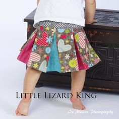 Love this little pleated skirt from Little Lizard King.  Pattern only ~ $7.00
