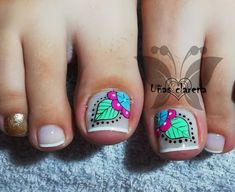 Feet Nails, My Nails, Pedicure Nails, Manicure, Feet Nail Design, Akira, Nail Designs, Lily, Nail Art