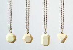 DIY: concrete gemstone pendants