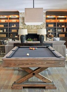 Browse photos of Basement Rec Room. Find ideas and inspiration for Basement Rec Room to add to your own home. See more ideas about Game room basement, Game room and Finished basement bars. Game Room Design, Family Room Design, Billard Design, Finished Basement Bars, Finished Basements, Pool Table Room, Diy Pool Table, Best Pool Tables, Modern Pool Tables