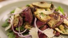 Watch Steak and Porcini Mushroom Salad Porcini Mushrooms, Stuffed Mushrooms, Mushroom Salad, Steak Salad, Food Network Recipes, Pork, Beef, Watch, Stuff Mushrooms