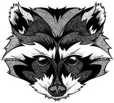 Raccoon face Grow by Andreas Preis