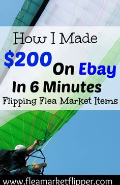 I love buying flea market items and reselling them online! I love it even more…