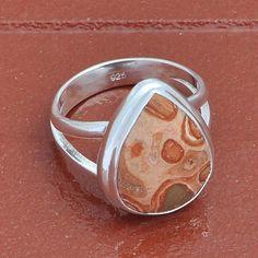 PILBRA JASPER 925 SOLID STERLING SILVER  RING 3.93g DJR3946 #Handmade #Ring