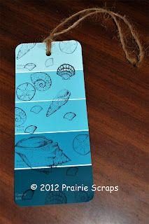 Prairie Scraps: Paint Chip Bookmark - MOPS Craft