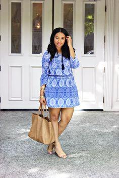 Blue Paisley Boho Dress
