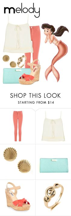 """""""Melody"""" by sjade9 ❤ liked on Polyvore featuring Oasis, River Island, Tiffany & Co., Kate Spade, Dune, modern, disney, thelittlemermaid, disneybound and moderndisney"""