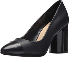 Nine West Womens Callher Leather Pump Navy 75 M US >>> You can find out more details at the link of the image. (This is an affiliate link) Leather Pumps, Nine West, Pumps Heels, Heeled Mules, Navy, Link, Awesome, Check, Image