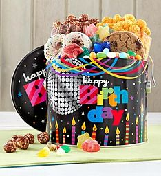 1/2 Gallon Birthday Glitz Fun Pail Get @ The Popcorn Factory Store, Lake Forest, IL.
