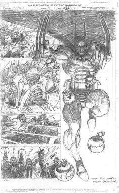 Pencils by John Romita Jr. from the Punisher/Batman crossover