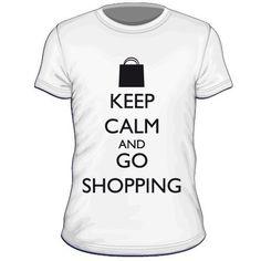 Maglietta personalizzata Keep Calm and Go Shopping