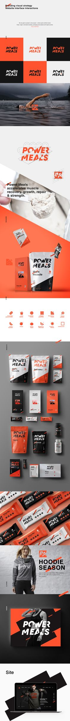 "Consulta este proyecto @Behance: ""Power Meals"" https://www.behance.net/gallery/43196329/Power-Meals"