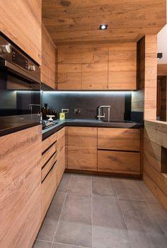 Kitchen Cupboard Designs, Kitchen Room Design, Diy Kitchen Storage, Modern Kitchen Cabinets, Home Decor Kitchen, Kitchen Interior, Küchen Design, House Design, Cabin Interior Design