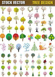 식물 Tree Patterns, Print Patterns, Forest Mural, Cross Stitch Tree, Learn Art, Web Design, Plant Illustration, Free Vector Graphics, Elementary Art