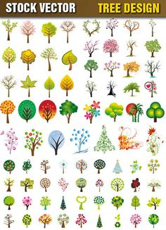 Graphic Art Trees | Tree Vector Eps | Free Vector Graphics