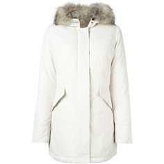 Agnona fur trim coat (€4.245) ❤ liked on Polyvore featuring ...