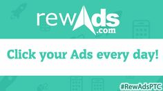 Rewads | Nex Gen PTC | Click your Ads daily  Rewads the web that allows you to monetize your time online.  Earn money watching ads, videos, completing surveys and endless offers.  Invite friends and get 5% of all purchases and 2% of their clicks.  #PTC #Bitcoin #Profit #Advertise #PaidToClick #Money #Business #Online #Invest #Marketing #Work #Generation #Cash #Easy #Next #Free #Opportunity #Network #Earn #System #Income