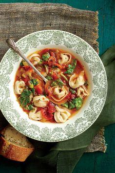 Chicken-and-Prosciutto Tortelloni Soup - Satisfying Soups