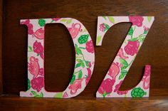 Delta Zeta Lilly letters