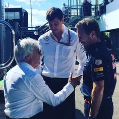 Meanwhile, in the paddock... Now what could these three be discussing on a sunny Saturday morning in #Hockenheim... #F1istZurueck #GermanGP #F1 #Motorsport #Racing