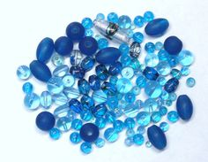 GRAB BAG with 3 Oz. of Mixed Beads in Aqua Blue by BeadsFromHaven, $4.75
