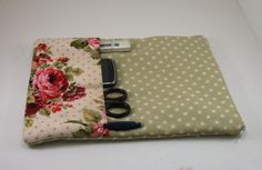 Nurses case, stethoscope bag in stars and vintage roses fabric,(also suitable for tablet) medical pouch, pockets for tools and phone. on Etsy, $29.95