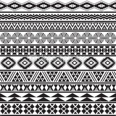 Tribal striped seamless pattern. — Stock Illustration #26279715
